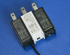 美规USB充电器5V1.2A便携式电源适配器JHD-AP006U-050100BB-2
