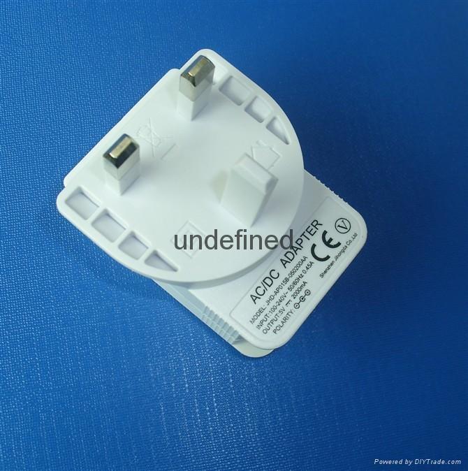 UK /BS插頭充電器電源適配器5v1000mA 2