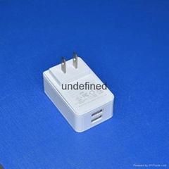 5V3A雙USB接口充電器