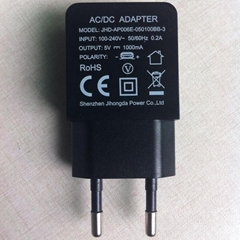 European Universal Power Adapter 5V2000mA Charger