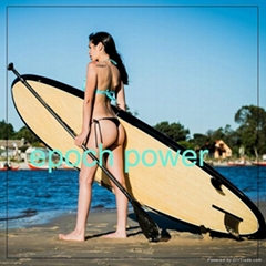 2015 new design 9 feet bamboo stand up paddle board