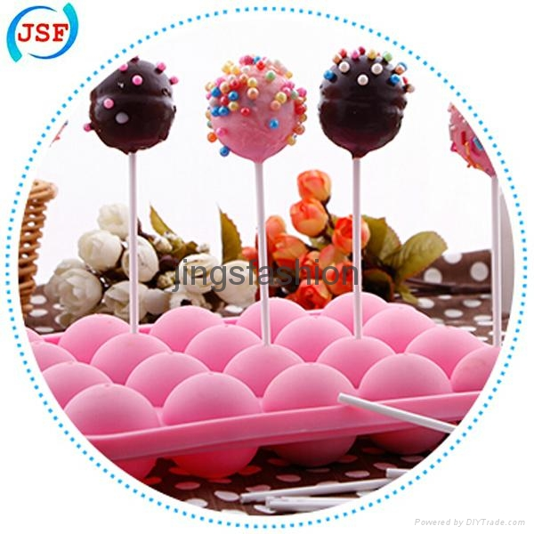 Hot Selling Food Safety Silicone Cake Pop Molds 20pcs Set With 20 Free Sticks 4