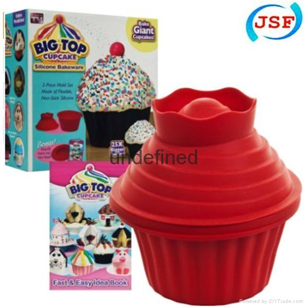 Large Cupcake Pan Silicone Mold Bakeware 1