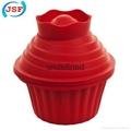 Large Cupcake Pan Silicone Mold Bakeware 2