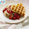 High Quality Red Silicone Round Waffle Mold Perfect Home Products 5