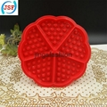 High Quality Red Silicone Round Waffle