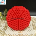 High Quality Red Silicone Round Waffle Mold Perfect Home Products 2