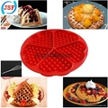 High Quality Red Silicone Round Waffle Mold Perfect Home Products 4