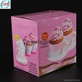 Pink Silicone Teacup Cupcake Mold Set of 8pcs 4