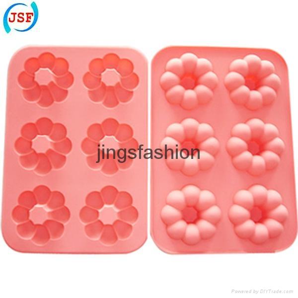 FDA Silicone Mold Mini Donut Molds Set of 6pcs 2