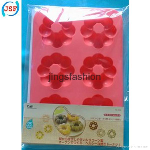FDA Silicone Mold Mini Donut Molds Set of 6pcs 3