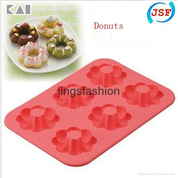 FDA Silicone Mold Mini Donut Molds Set of 6pcs 1