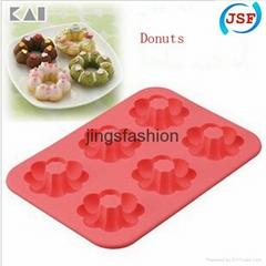 FDA Silicone Mold Mini Donut Molds Set of 6pcs