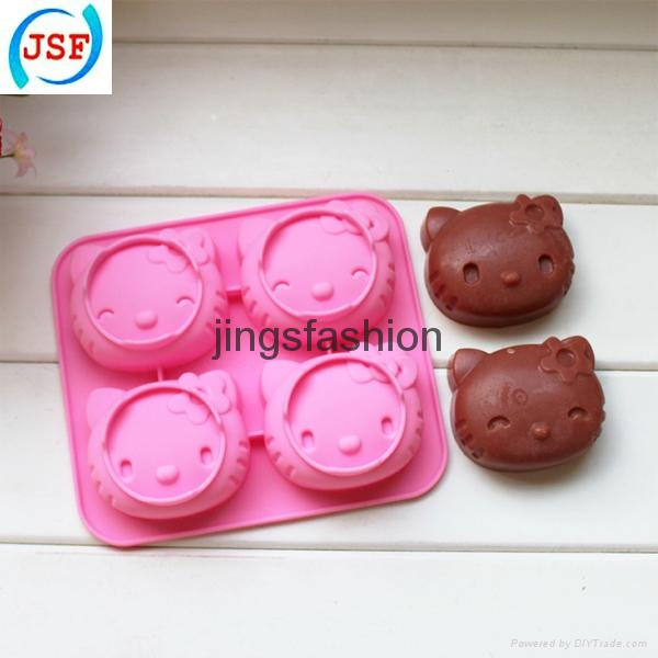 Pink Hello Kitty Shaped Silicone Cake Mold Chocolate Mold Cookie Mold 2