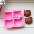 Pink Hello Kitty Shaped Silicone Cake Mold Chocolate Mold Cookie Mold 3