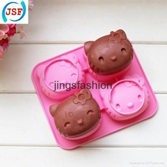 Pink Hello Kitty Shaped Silicone Cake Mold Chocolate Mold Cookie Mold
