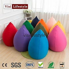 tear drop pear shape bean bag chair cover expand pouf
