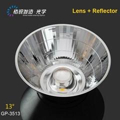 PC material COB reflector for spotlight 35mm 23 degree ceiling light fixturers