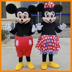 2015 New design Mickey Mouse Minnie Mouse mascot costume