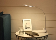 Rechargeable flexible LED desk lamp