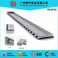 Stainless steel linear floor drain grating
