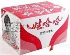 純淨水紙箱包裝加工生產