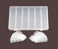 protable clear plastic storage jewelry box