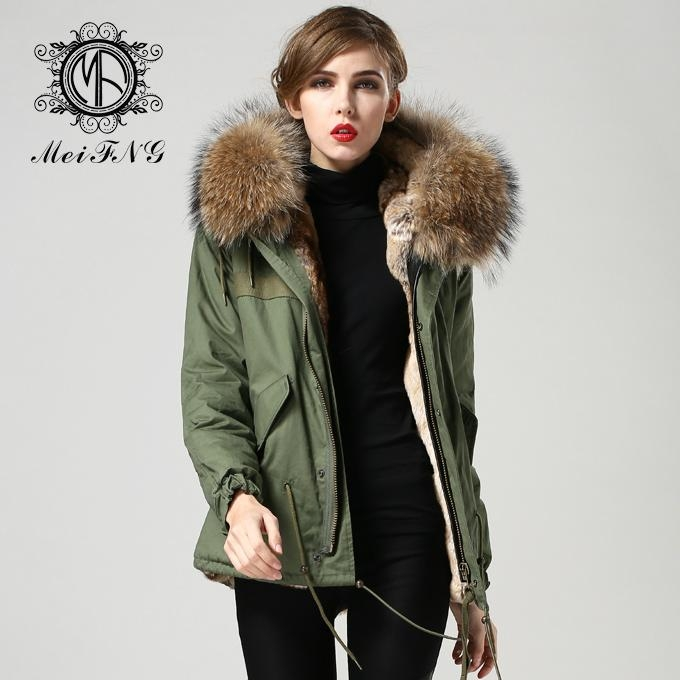Real Fur Parka With Fur Lining And Removeable Fur Collar