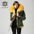 Mr&Mrs fox fur lining coat with