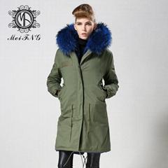 Canada Goose real fur coat for women