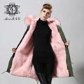 real fox fur women coat,popular style in 2015 winter 3