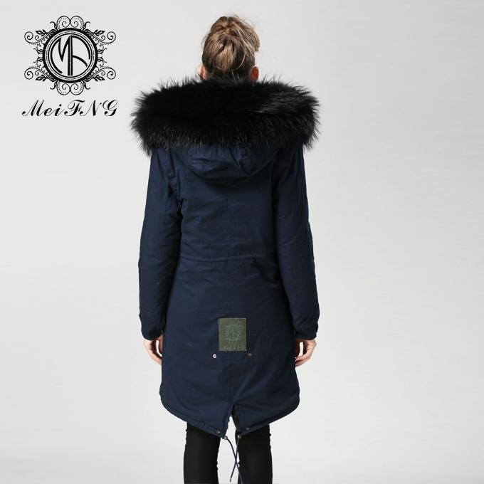 Unisex fur jacket with real fur hooded hotsale style fur 2