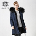 Unisex fur jacket with real fur hooded hotsale style fur 4