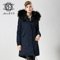 Unisex fur jacket with real fur hooded hotsale style fur 5