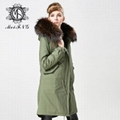 Unisex fur jacket  new design with big fur collar 3
