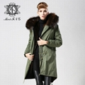 Unisex fur jacket  new design with big fur collar 4
