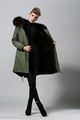 Unisex fur jacket  new design with big fur collar 5