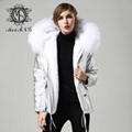 elegent women fur coat new design with