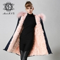 real lamb fur jacket for women and men unisex 3