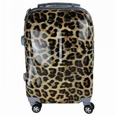 ABS zipper leopard luggage bag,trolley bag,trolley case