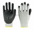 Black Anti-cut Level 5 HPPE Liner PU