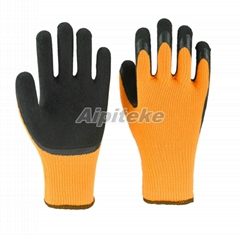 Thermal Gloves Latex Coated Palm Acrylic Terry Liner-Foam Finish