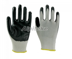 Polyester Knitted Nitrile Palm Coated Gloves