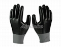 Black polyester shell with black full