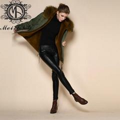 New Arrival Faux Fur Jacket Plus Size Factory Price