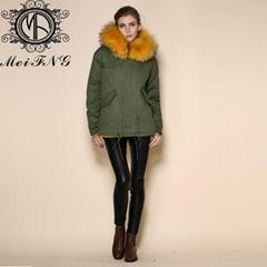2015 Fashion Fur Coat Style Short Warm Real Fur Hood Fur Jackets