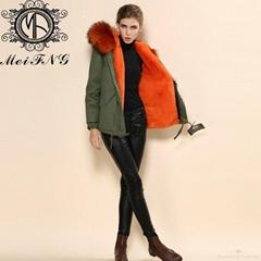 Winter Fashionable Rex Rabbit Fur Coats rex rabbit fur for women's clothing