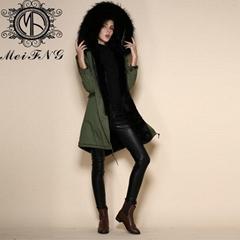 Alibaba China wholesale black fur jacket with fur inside for men
