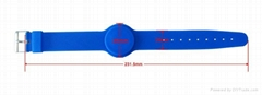 Promotional Portable Silicone Wristband For Locker
