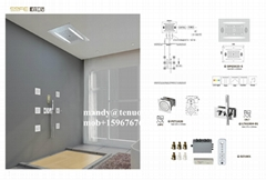 stainless steel ceiling shower with music